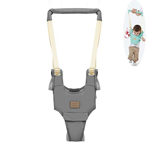 Baby Walker,Breathable Handheld Baby Child Harnesses Learning Assistant Walker Toddler Walking Helper Kid Safe Walking Protective Belt (Light Grey)