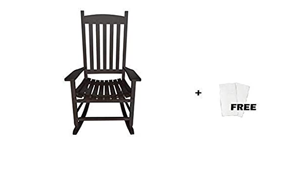 Enjoyable Mainstay Outdoor Rocking Chair 1 Black Free Cleaning Wipes Creativecarmelina Interior Chair Design Creativecarmelinacom