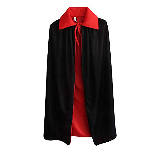 EDITHA Adult/Kids Vampire Cloak Devil Double Face Cape Cosplay Costumes-Stand Collar/Hooded