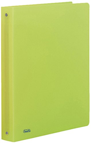 Giallo Fluo Favorit 400050899 Raccoglitore in Cartone Neon 22X30 cm 4 Anelli Tondi Diametro 30mm