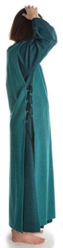 Damen XL Leinenstruktur Kleid mit grün Damenkleid grün Baumwolle HEMAD grün mit Skapulier S Mittelalter UgUq0d