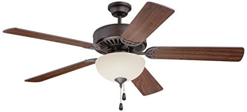 52' Builder Fan Collection - Craftmade K11201 Ceiling Fan Motor with Blades Included, 52