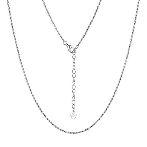 U7 1.3mm Silver Rope Chain Women Girls Dainty 925 Sterling Silver Twisted Rope Necklace 20