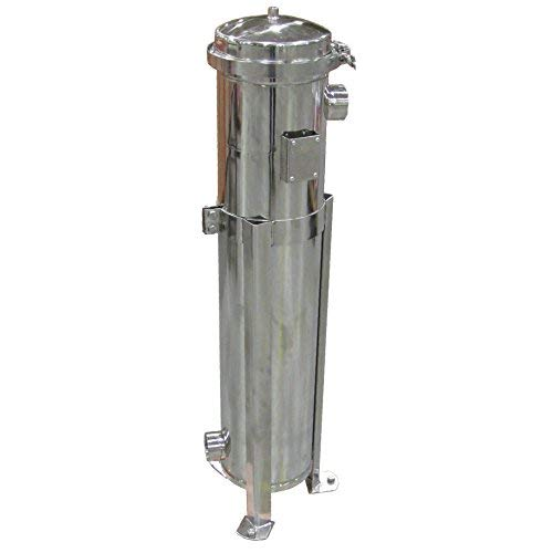 (PRM Bag Filter Housing, #2 Size, 304 Stainless Steel, Banded Clamp Top, 2 Inch NPT Inlet/Outlet; Viton O-Ring, 100 psi)