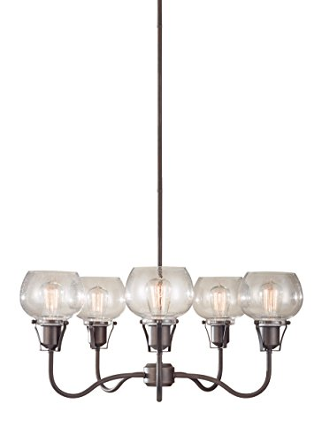Urban Living Torchiere (Feiss F2824/5RI 5-Light Urban Renewal Chandelier, Rustic Iron)