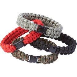 Maxam para Cord Bracelet Set in 4 Colors (12 Pieces) ()