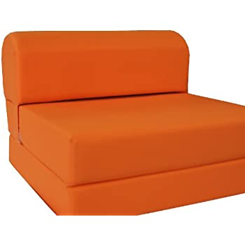 Orange Sleeper Chair Folding Foam Bed Sized 6 Thick X 32 Wide 70