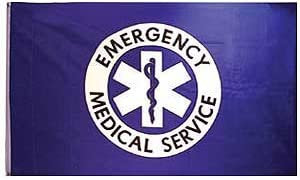 Emergency Medical Service Flag 3x5 Polyester