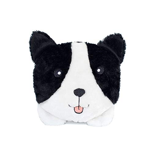 ZippyPaws - Bun Matching Dog Breed Plush Pillow Dog Toy - Border Collie