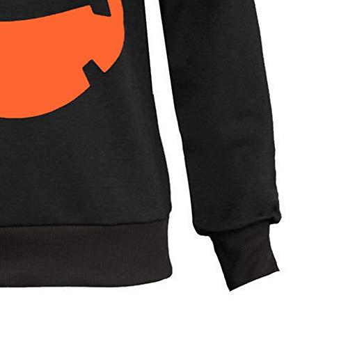 a1dffe155dbcac Damen Kapuzenpullover Langarm Hoodie Pullover Ronamick Fraue lang Drucken Hooded  Sweatshirt Halloween mit Kaputze Drawstring Kapuzenpullis