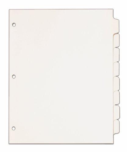 Erase Mylar Tab Dividers - 8
