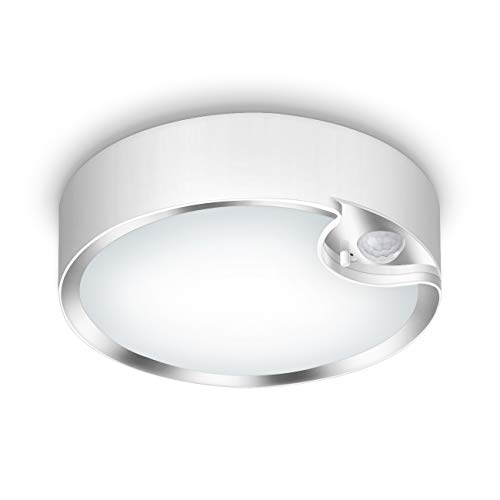 Yurnero 80 LED Bewegingssensor Plafondlamp Batterij Werkt Ultra Heldere Motion Geactiveerd Indoor Licht voor Trap Hal…