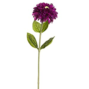 "29"" Zinnia Silk Flower Stem -Purple (Pack of 12) 92"