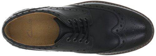Derby cordones Wing Leather para con Zapatos Clarks Black Montacute hombre Negro wFXnPqxI