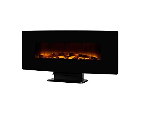 Cheap Pleasant Hearth Remote Control Electric Fireplace Wall Mount | Contemporary and Realistic Flame Effect Black 42 in Black Friday & Cyber Monday 2019