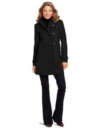 Tommy Hilfiger Women's Hooded Toggle Coat, Black, 2