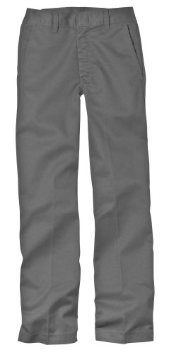Charcoal Flat Front Pant - 5
