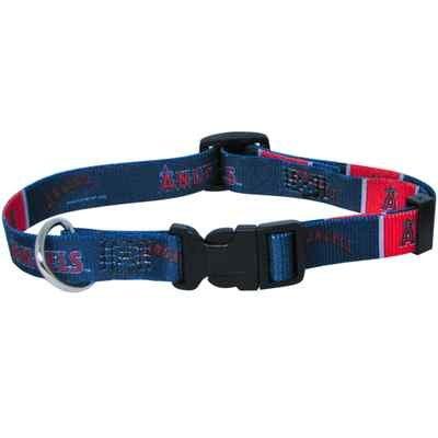 Los Angeles Angels Pet Dog Adjustable Collar All Sizes (Medium)