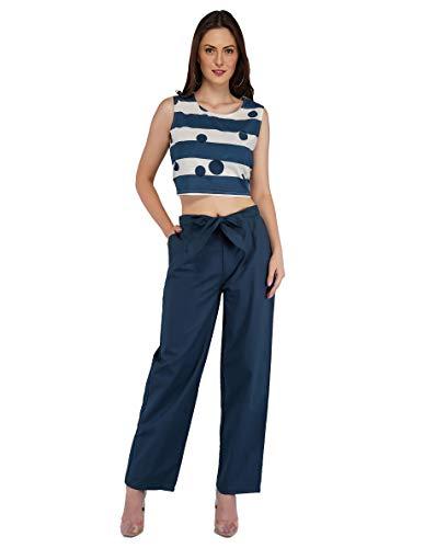 Metro Fashion Women Cotton Crop Top and Pant Set