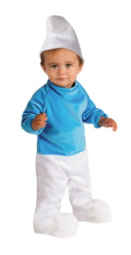 Smurfs Costume For Toddlers (Rubie's Costume The Smurfs 2 Deluxe Smurf Romper and Headpiece, Blue/White,)