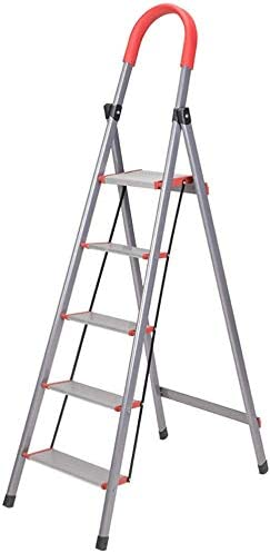 GBX Fácil Y Conveniente de Múltiples Funciones Plegable Taburete de Paso, de Aluminio de Acero Escalera, Escalera Grueso Tubo Pletina Espiga de Escalera, 5-Paso de Acero para Trabajo Pesado Portátil: Amazon.es: Bricolaje