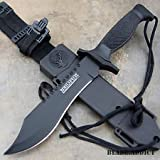 12'' Tactical Bowie Survival Hunting Knife w/ Sheath Military Combat Fixed Blade