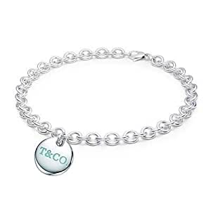Tiffany And Co Necklace Round Charm Silver 053