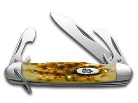 Case Amber Bone JR Scout Pocket Knife