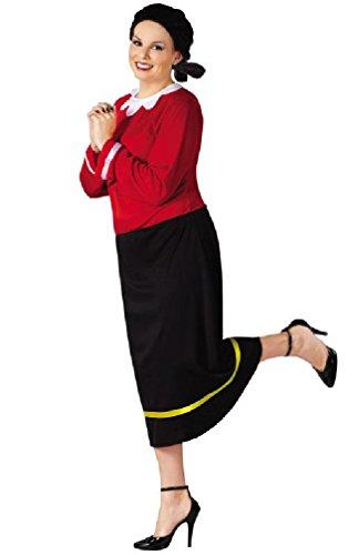 [8eighteen Olive Oyl Plus Size Popeye Halloween Costume] (Olive And Popeye Halloween Costume)