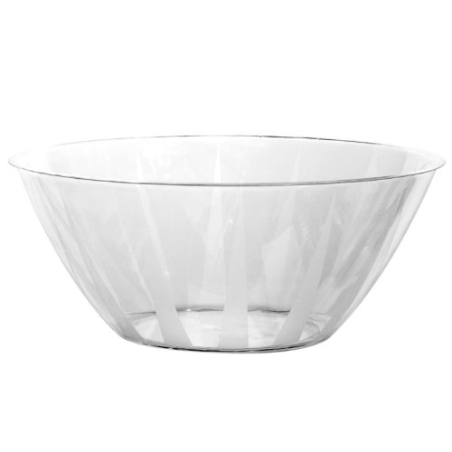 Party Essentials N160 Plastic Serving Bowl, 160-Ounce Capacity, Clear (Case of 12)