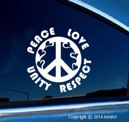 Amazon com: PLUR Decal - Peace-Love-Unity-Respect- HEART- I