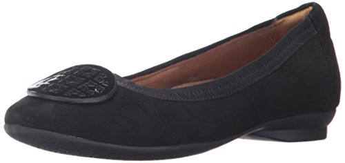 Suede Embellishments - CLARKS Women's Candra Blush Flat, Black Suede, 10 N US