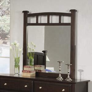 Jasper Wood Mirror - Coaster Home Furnishings Jasper Mirror with Curved Frame, Cappuccino