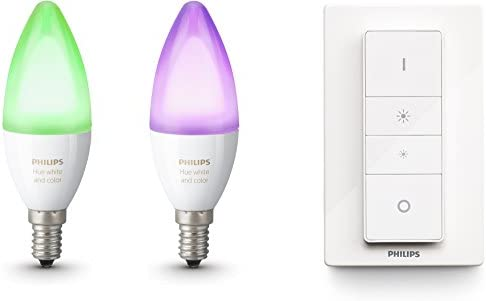 Philips Hue White and Color Ambiance - Pack de 2 bombillas LED E14 ...