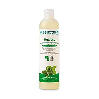 GREEN NATURAL - Multi-Surface Cleaner Active Oxygen Refill - High cleaning power - Fragrance Mint and Eucalyptus - Suitable for Delicate Skin, with a Low Environmental Impact - 500 ml