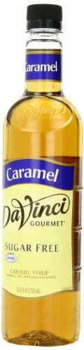 Sugar Free Flavored Syrups - DaVinci Gourmet Sugar Free Syrup, Caramel, 25.4 Ounce (Pack of 3), Flavored Sweetener Syrup for Espresso Drinks, Tea, and Other Beverages, Suited for Home, Café, Restaurant, Coffee Shop
