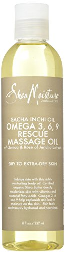 Sacha Inchi Oil Omega-3-6-9 Rescue Massage Oil by Shea Moisture for Unisex...