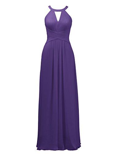(Alicepub Keyhole Bridesmaid Dress Long Formal Evening Prom Gown for Wedding Maxi, Regency, US12)