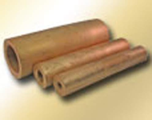 Bunting Bearings - Cored Bar - Cast Aluminum Bronze Material, 1-1/2 in Bore Diameter, 2 in Outside Diameter, 13 in Overall Length (2 Units)