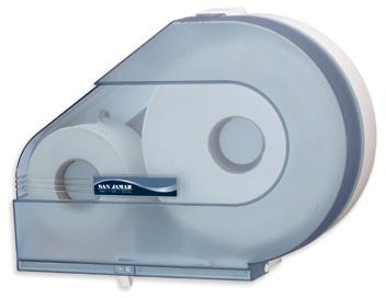 San Jamar R6500TBL Arctic Blue Quantum Jumbo Roll Toilet Tissue Dispenser -