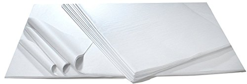 "20"" x 30"" Unfolded Premium White Tissue Paper- 5 Reams of 480 sheets (2,400 Sheets Total)- Used for Wrapping Gifts, Arts & Crafts, Party Decorations, Packaging & More by Progress Packaging"