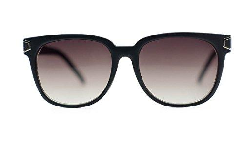 Unisex Wayfarer Wood Print Metal Accent Sunglasses (Dark Cherry Frame, - Sunglasses Niobe