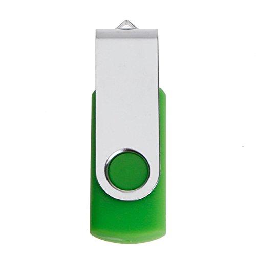 Ikevan Swivel USB2.0 1/2/4/8/16/32/64GB Flash Drive Memory Stick Thumb Pen U-Disk (16GB, Green)
