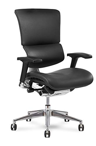X Chair X4 Leather Executive Chair, Black Leather