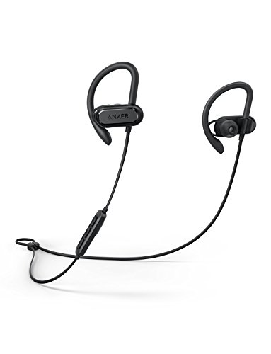 Soundcore Spirit X Sports Earphones by Anker, with Wireless Bluetooth 5.0, 12-Hour Battery, IPX7 SweatGuard Technology, Secure Fit for Sport and Workouts, with Mic