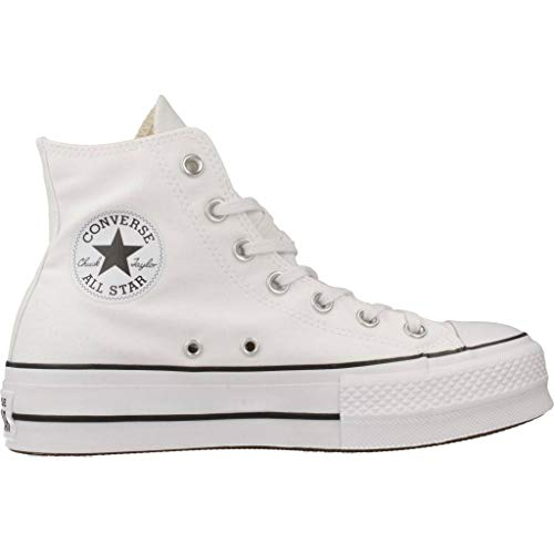 36 Converse EU Black Lift Baskets Hi White Hautes Mixte CTAS Adulte FqZapgFUw