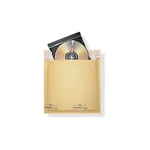 "Kraft Bubble Mailers Cd (#CD 6.5""x9.75"" KRAFT BUBBLE MAILER PADDED ENVELOPES-100ct)"