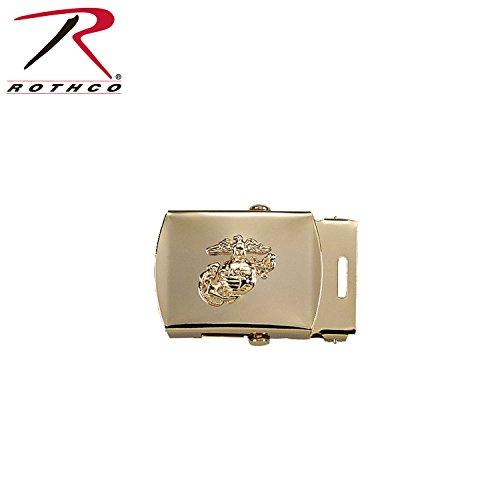 (4407 Brass Plated USMC Emblem Web Belt)