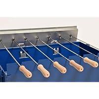 Spießgrill klein blau Skewer Grill Camping Balkon Picknick ✔ eckig ✔ tragbar ✔ Grillen mit Holzkohle