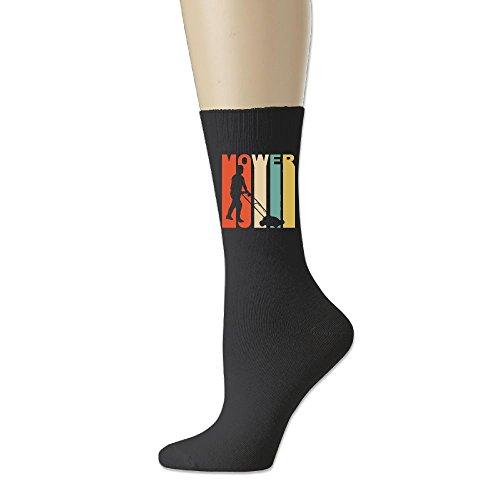 - Men Casual Socks Women Athletic Soccer Socks 78% Cotton / 20% Nylon / 2% Spandex - Retro 1970's Style Lawnmower Silhouette